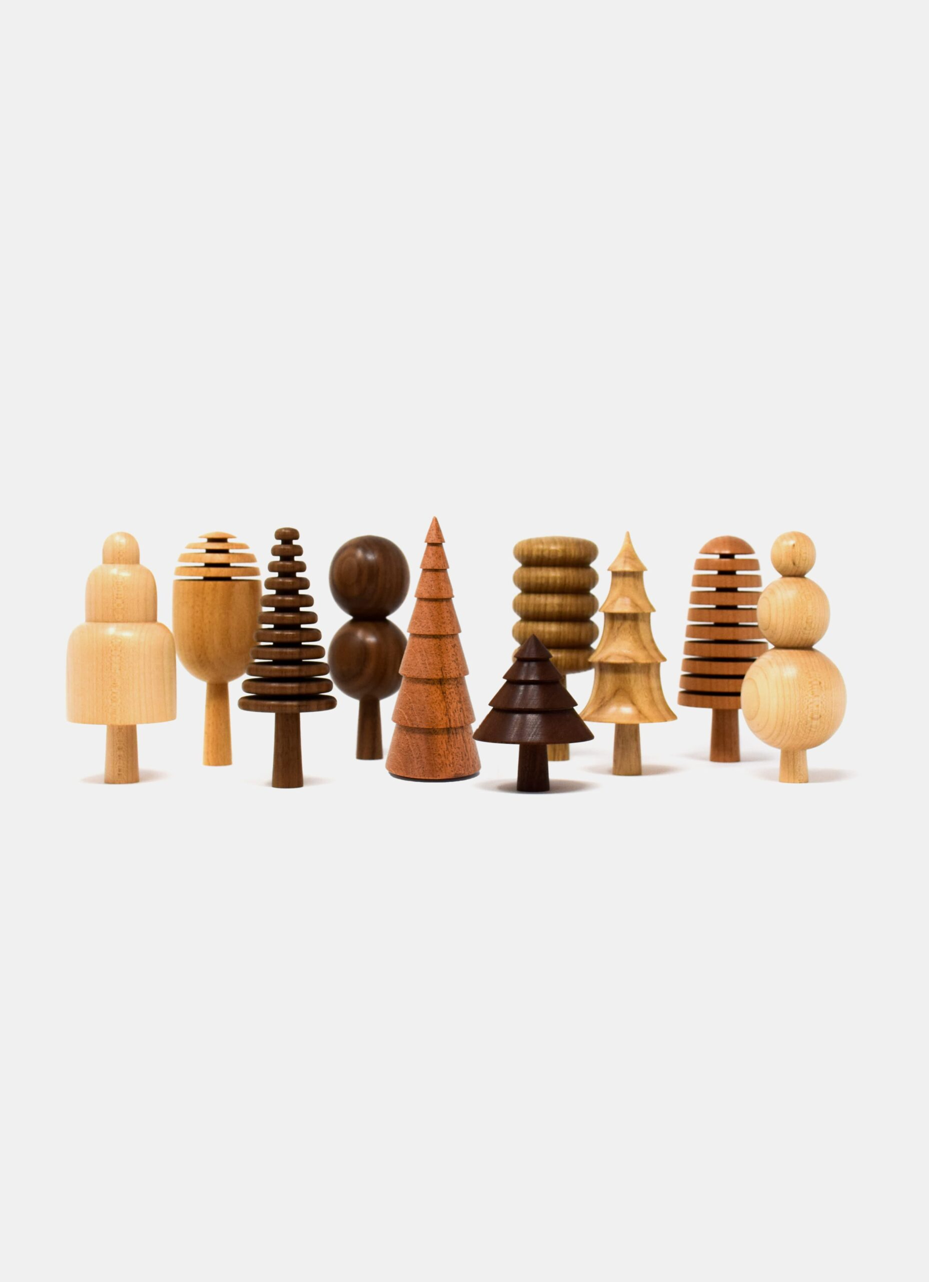 Forge Creative - The Arboretum - Handmade wooden Tree Ornaments - diff. shapes and colors