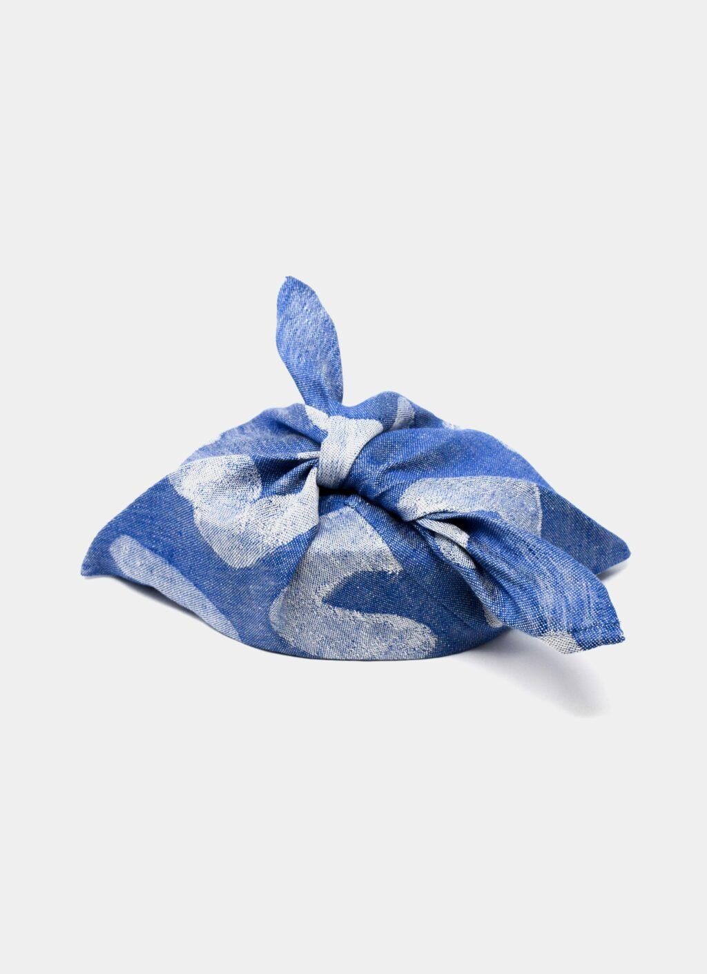 Fine Little Day - Udon - Linen Tie Bag - Blue