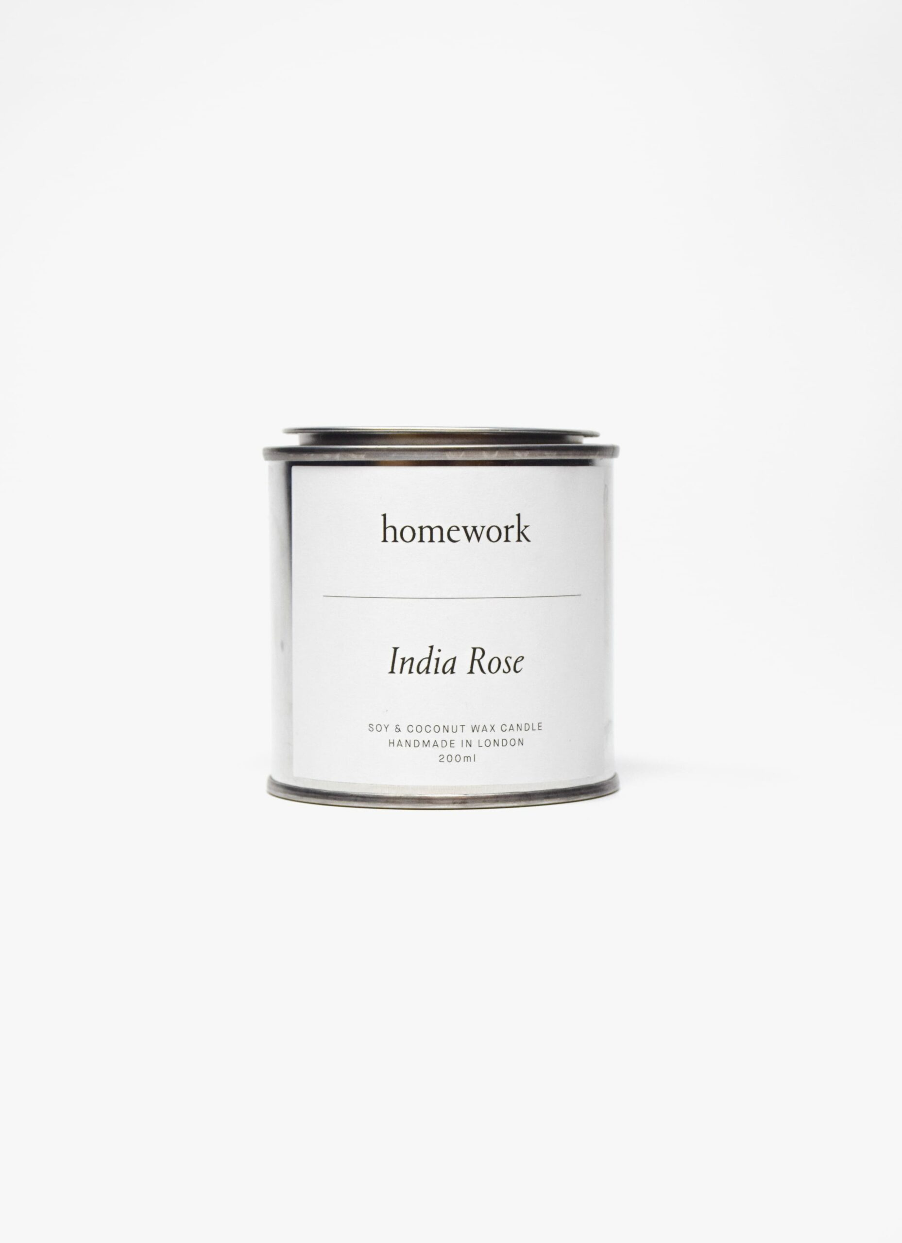 Homework - Natural Soy Wax Candle - Indian Rose