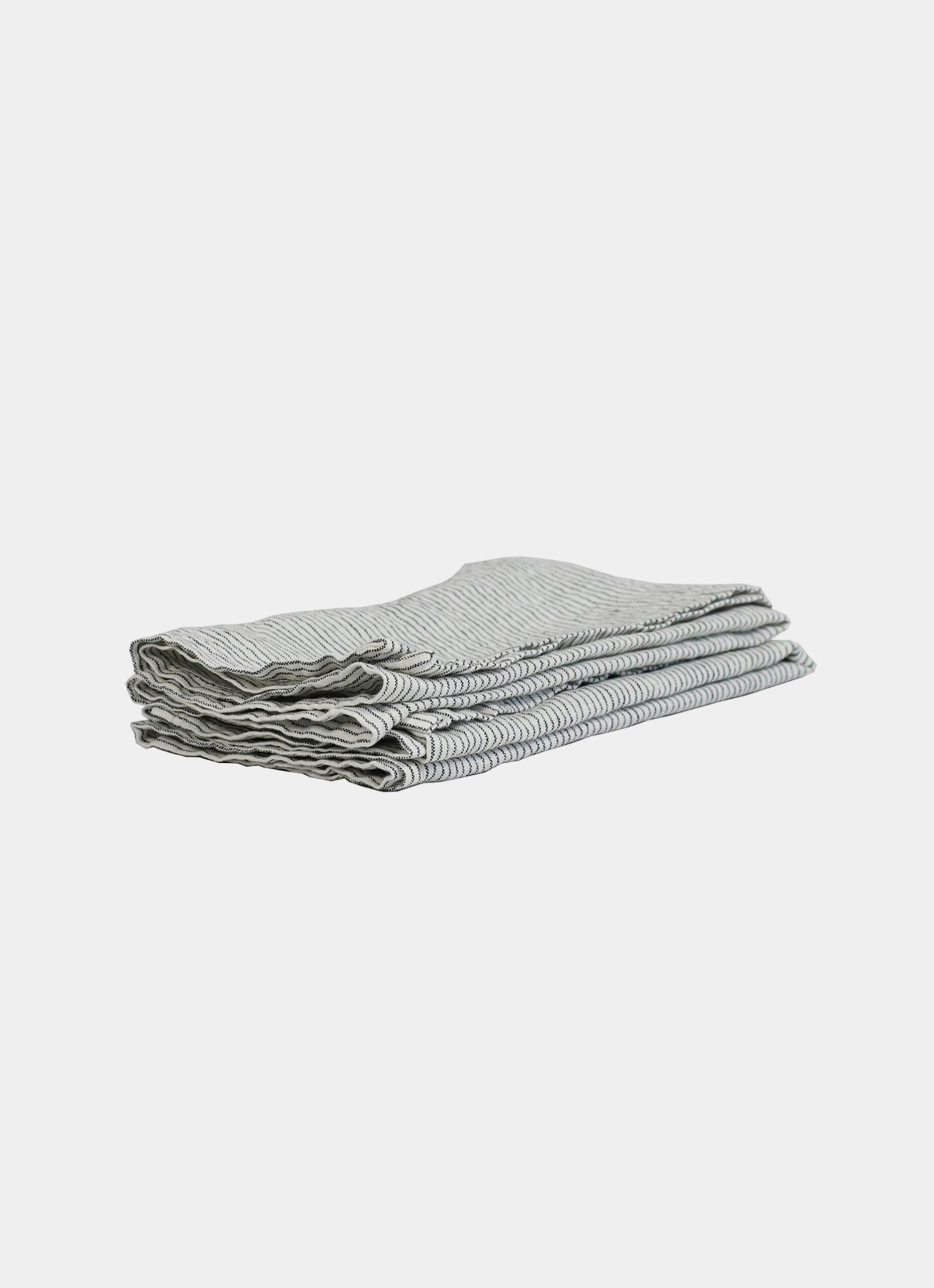 Tell me more - Kitchen Towel - Linen - Pinstripe
