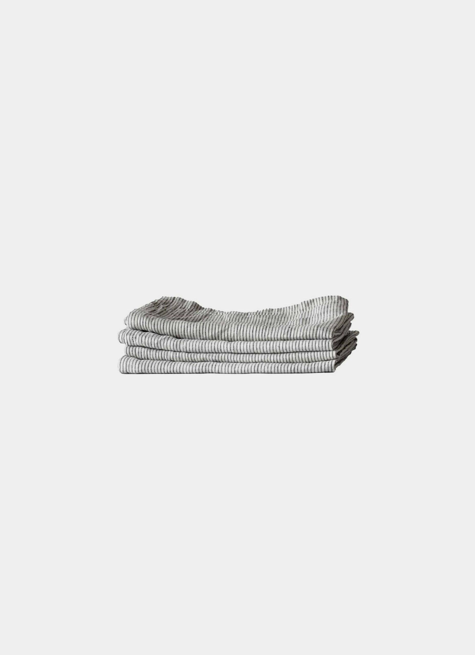 Tell Me More - Linen Napkin - Pinstripe