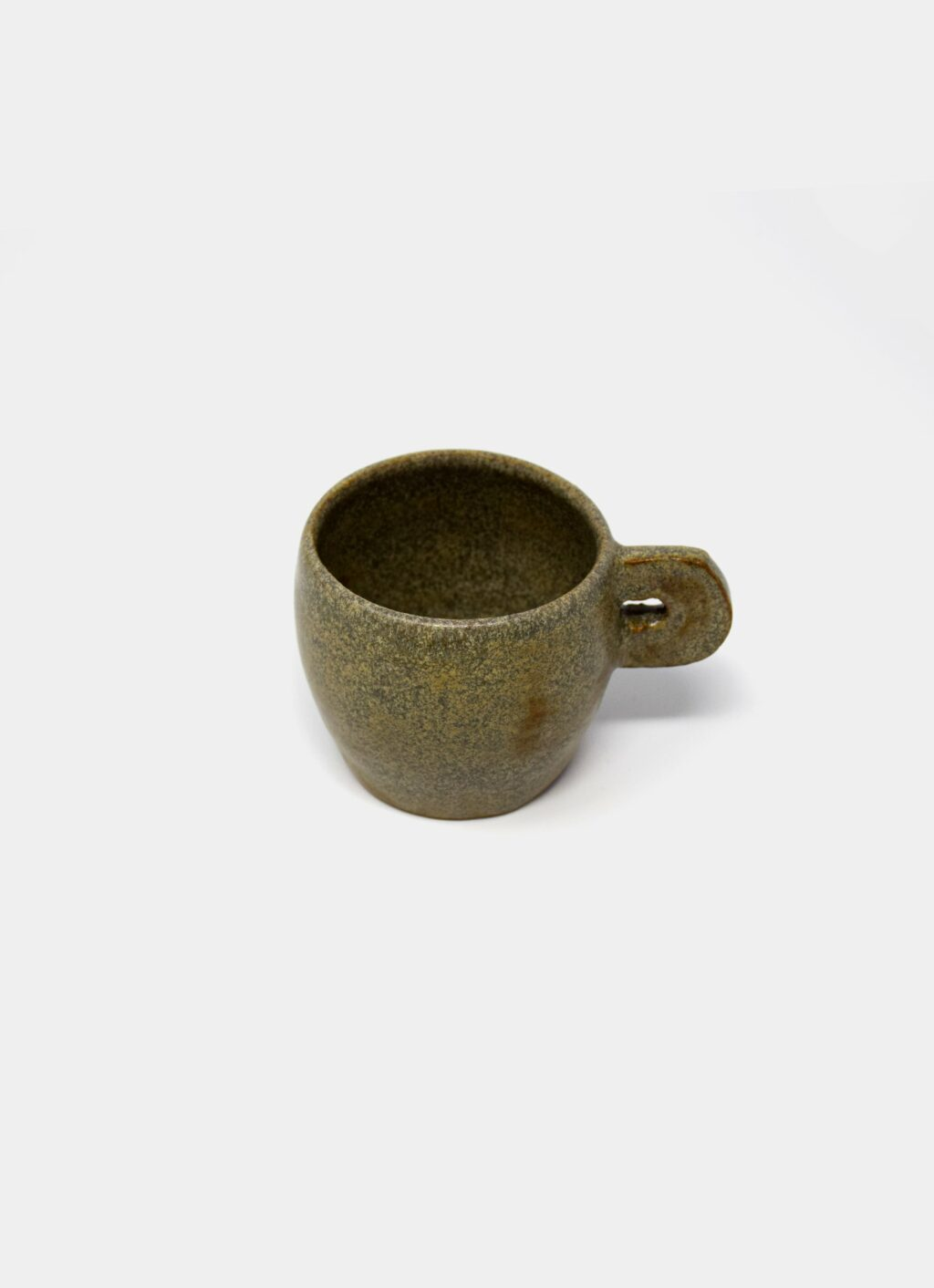 Kuza - Coffee Cup - Speckled green
