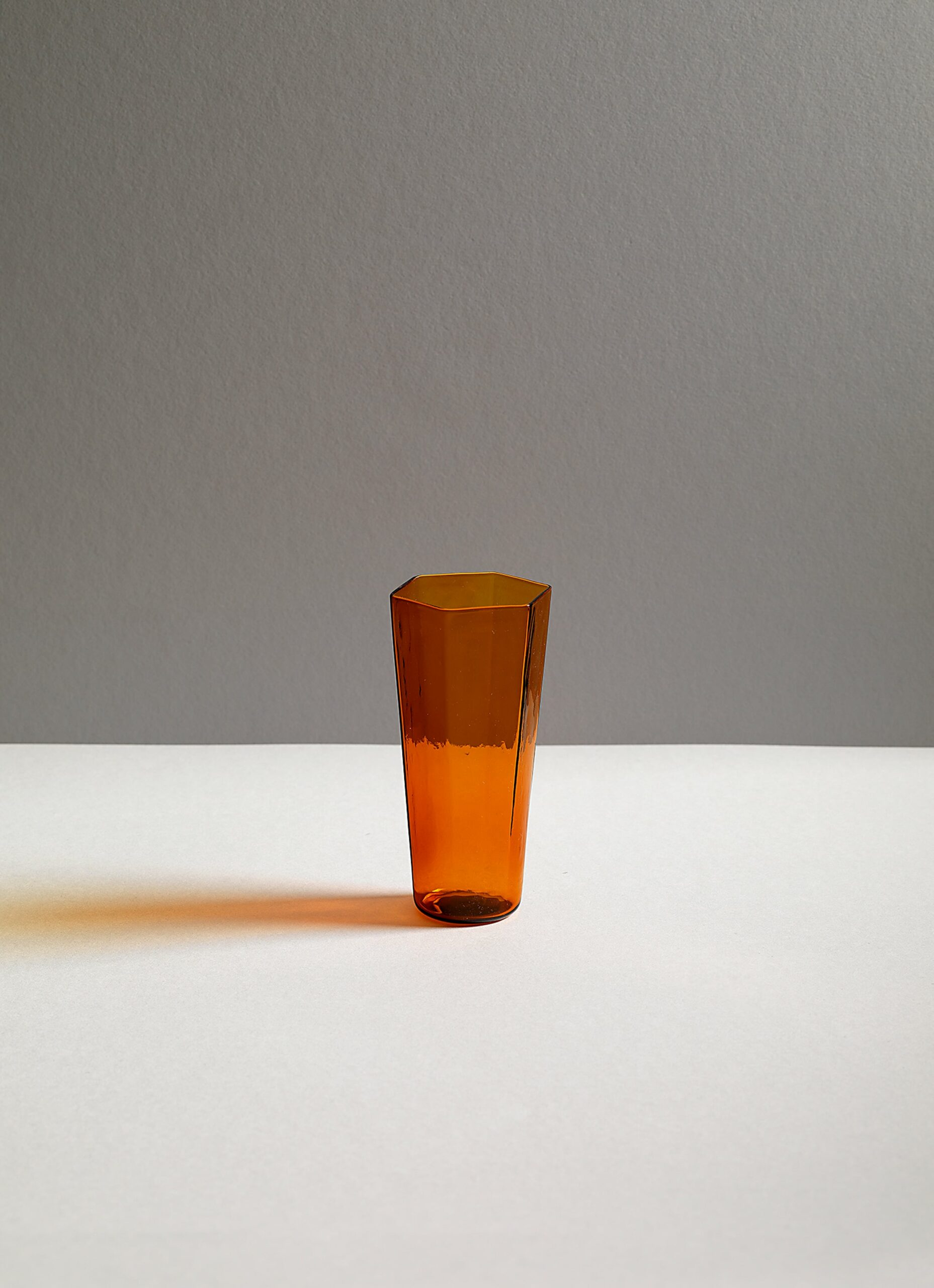 Research and Design Lab - Nini - Mouth blown glass - Amber - Set of two