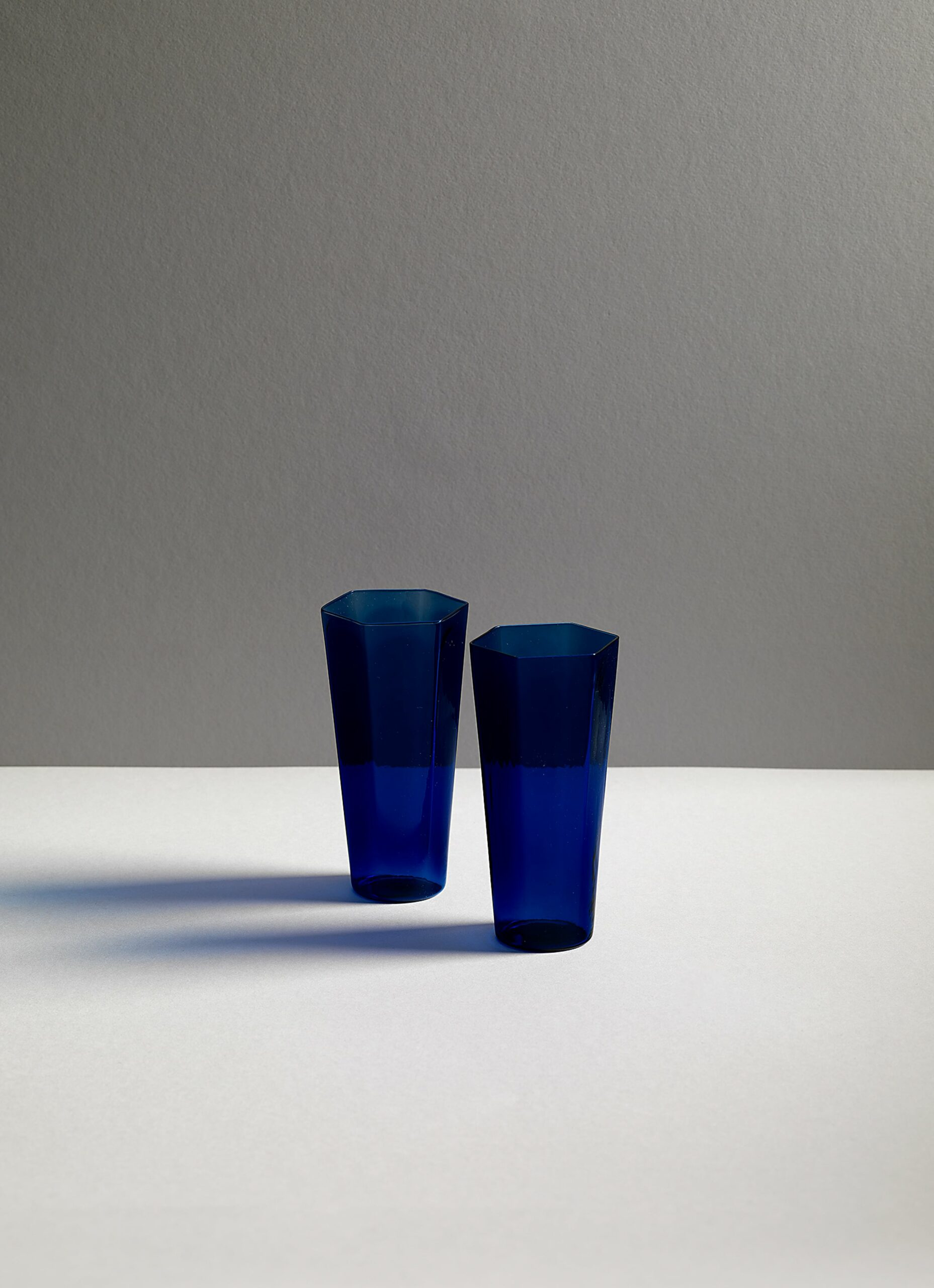 Research and Design Lab - Nini - Mouth blown glass - Lyons Blue - Set of two