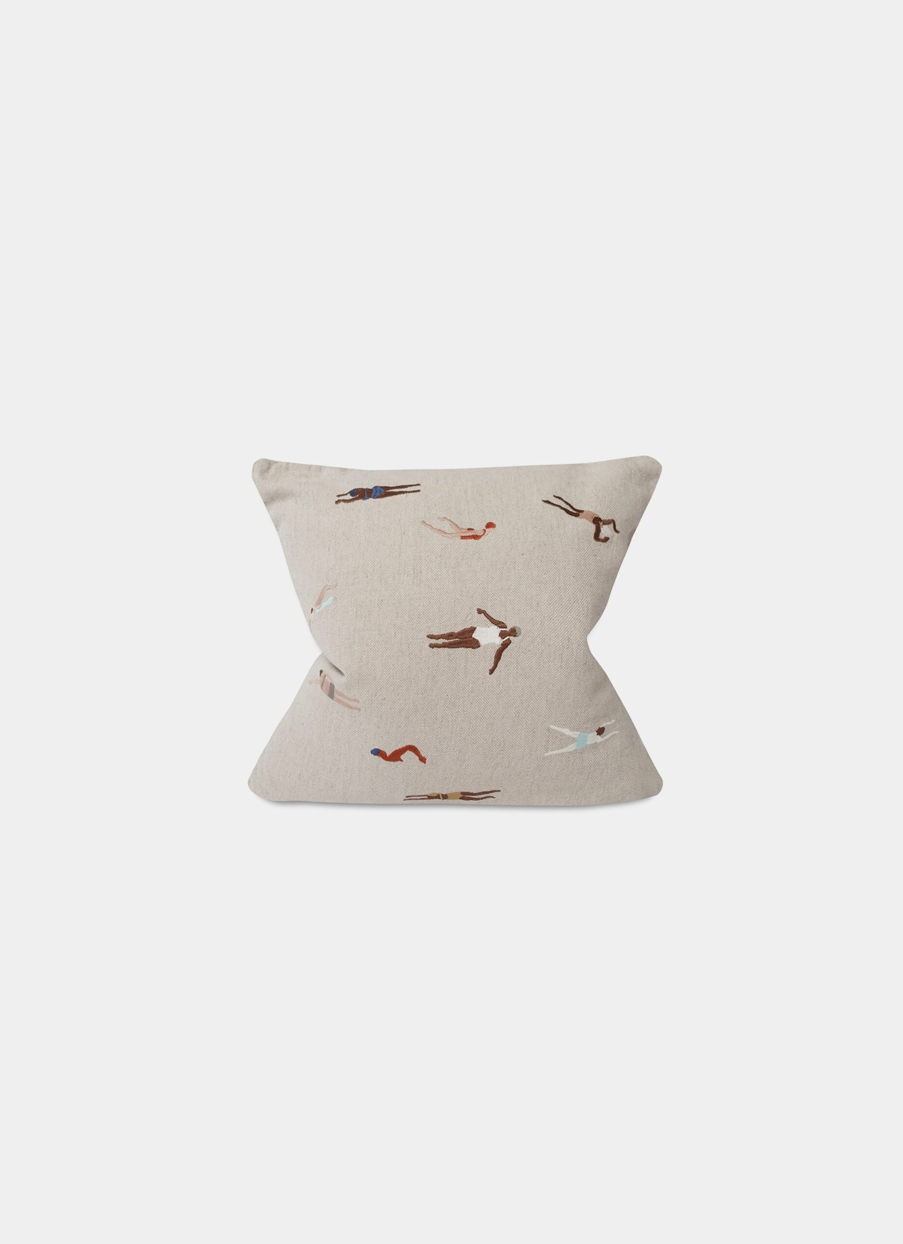 Fine Little Day - Swimmers - Embroidered Cushion - Linen and Cotton