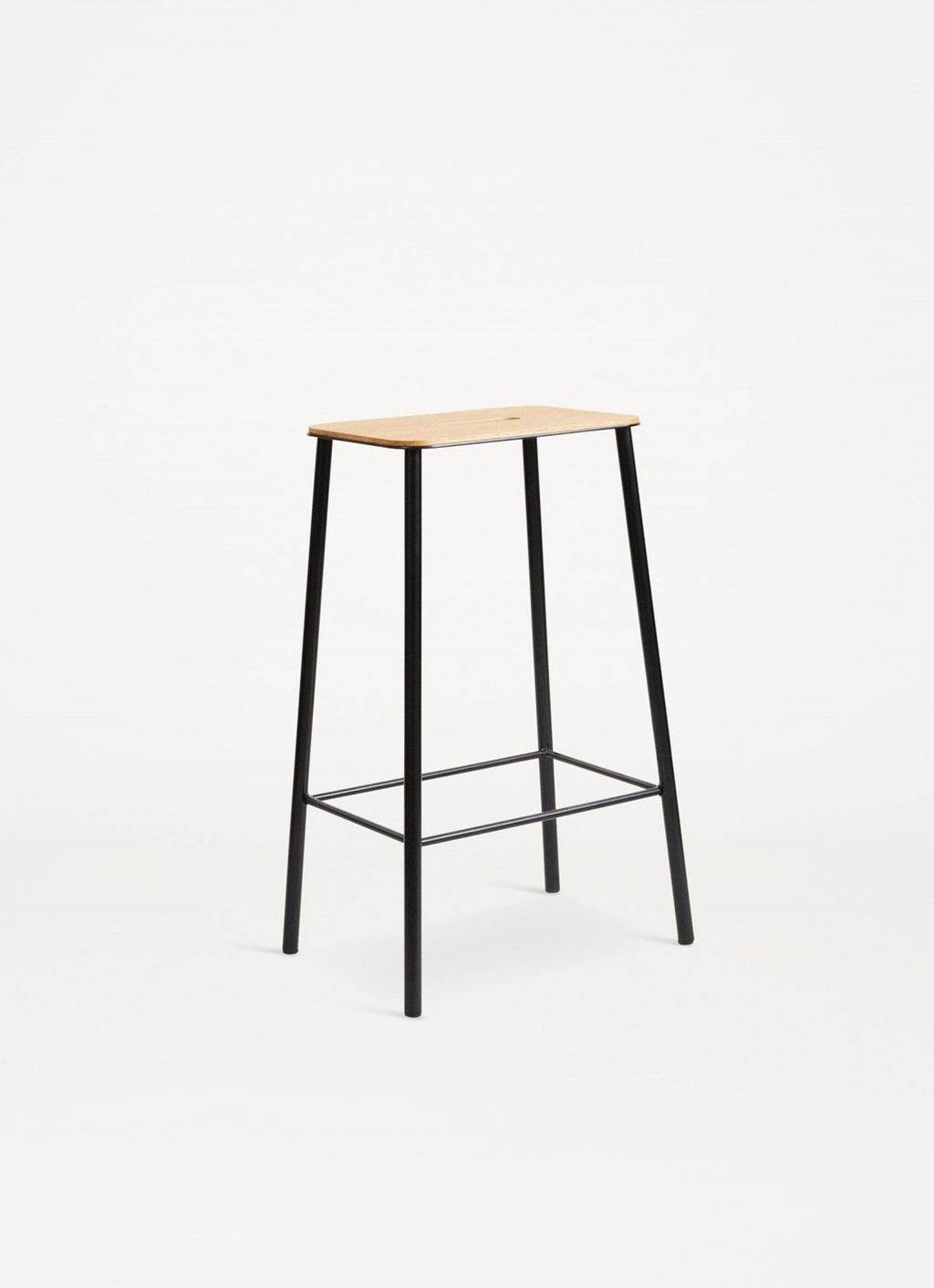 Adam Stool – Black - Natural Oak Seat - available in 3 sizes