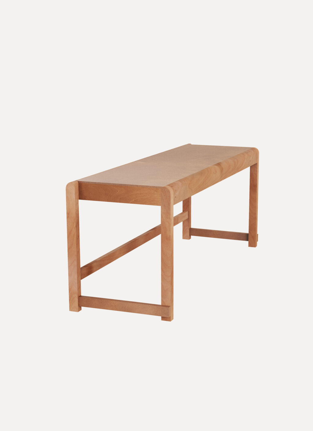 Frama - Bench 01 - Warm Brown Wood