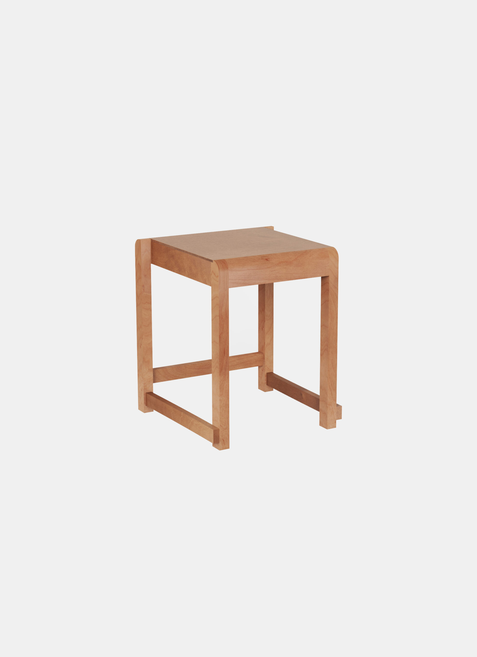 Frama - Low Stool 01 - Warm Brown Wood
