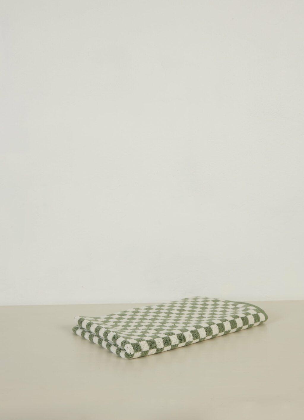 Baina - Organic Cotton - Bath Mat - Beppu - Sage and Chalk - 80 x 50cm