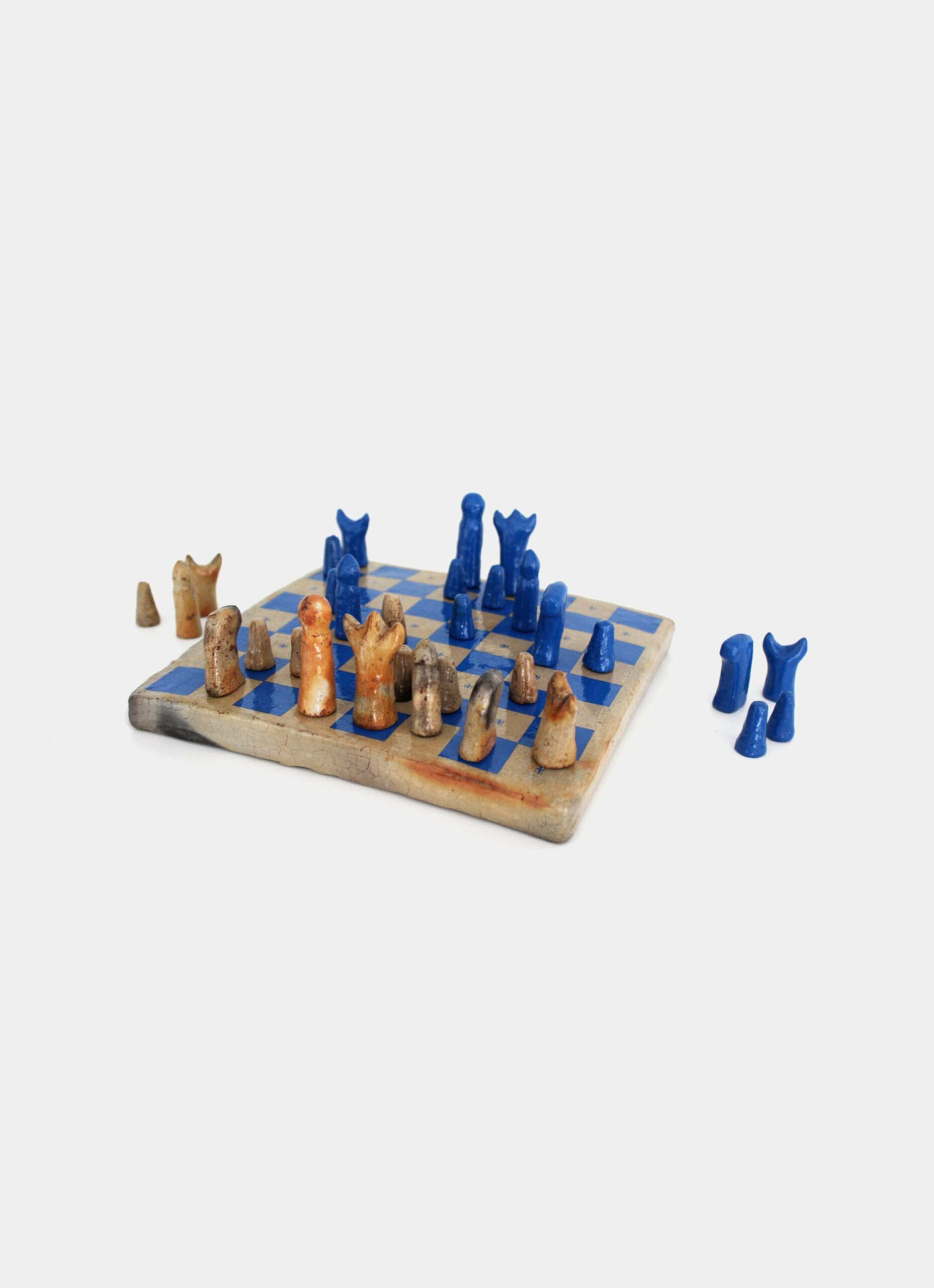 Flayou - Chich-Bich - Stoneware Chess - Special edition - Neon blue