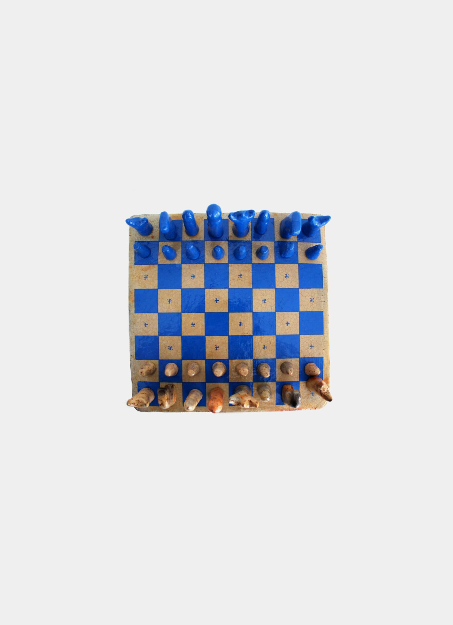 Flayou - Chich-Bich - Terracotta - Chess - Special edition - Neon blue