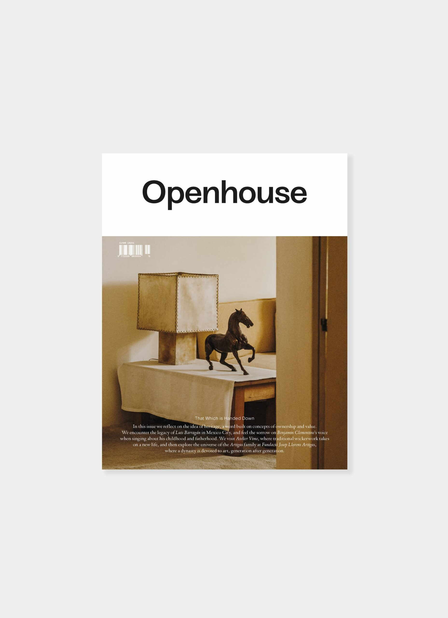 Openhouse Magazine - Issue 15 - That Which is Handed Down