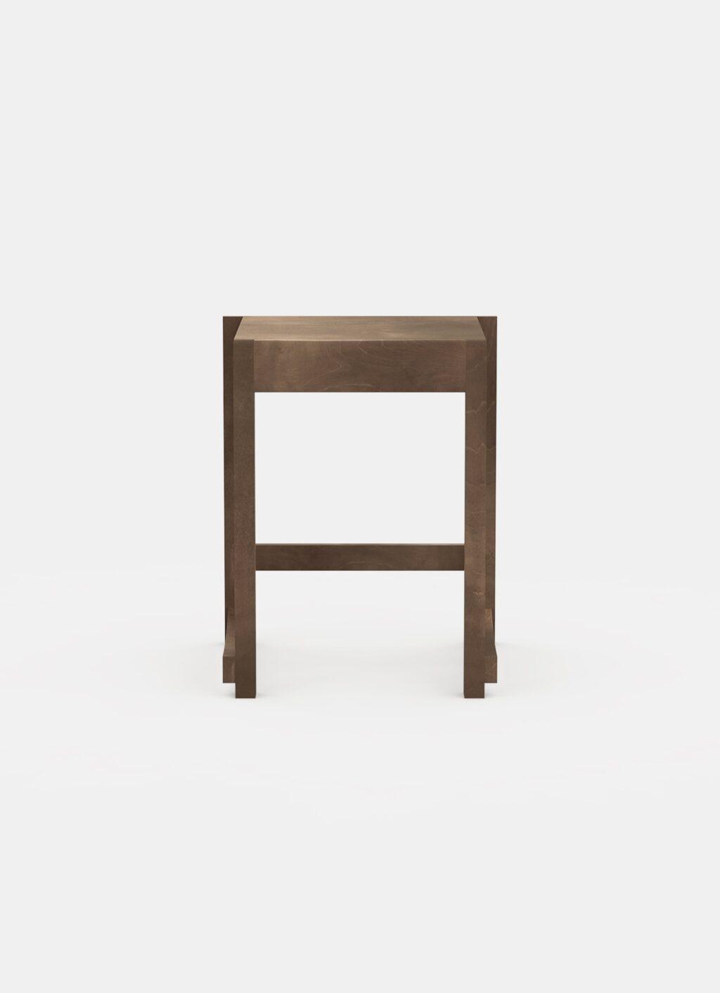 Frama - Low Stool 01 - Dark Wood