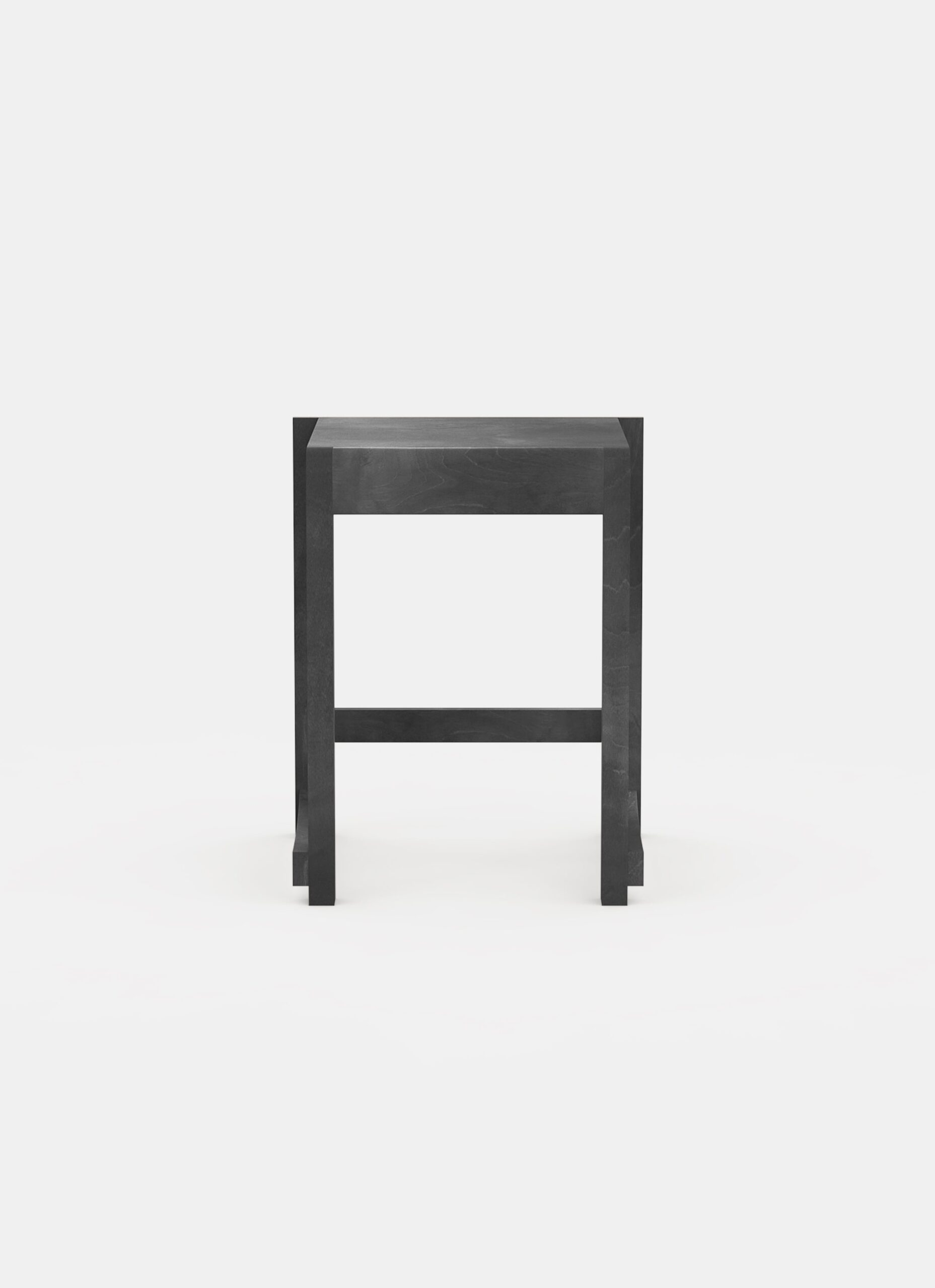 Frama - Low Stool 01 - Ash Black Wood