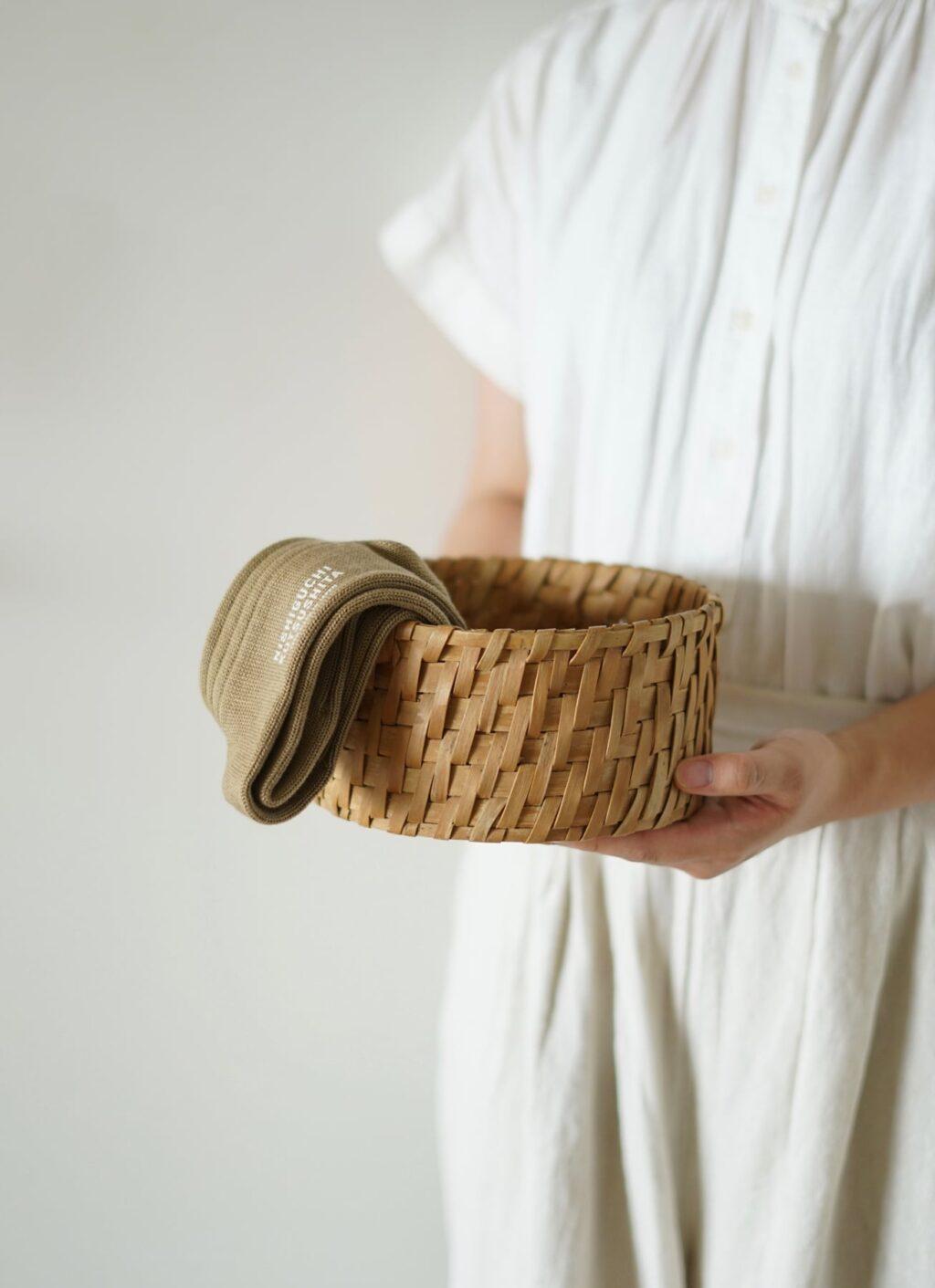 Nishiguchi Kutsushita - Egyptian Cotton Ribbed Socks - dif. sizes - Milk tea