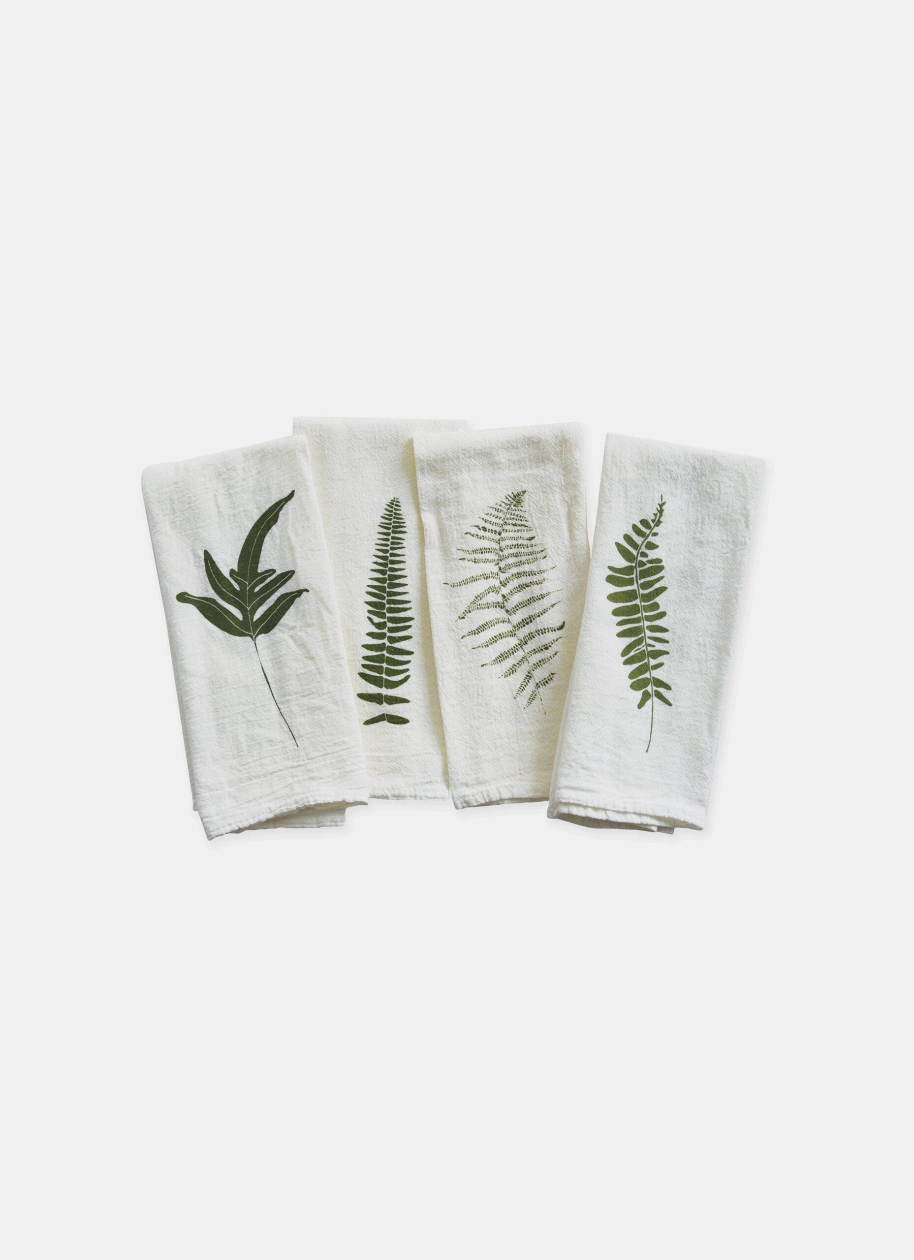 June and December - Set of 4 Cotton Napkins - Wild Fern - 38 x 50cm