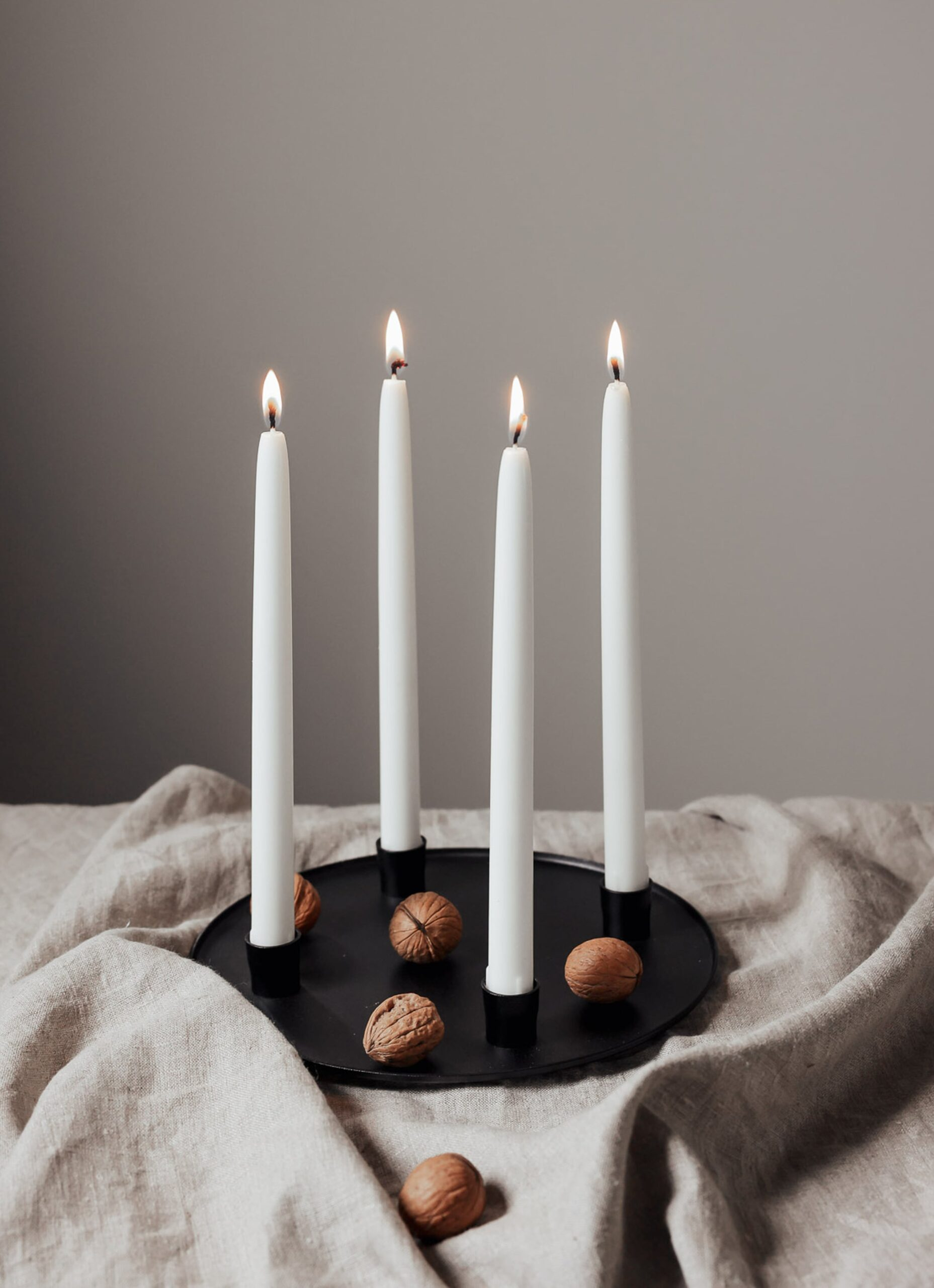 Vages - Handmade Cast Iron Candle Holder and Plate - Adventsljusstake