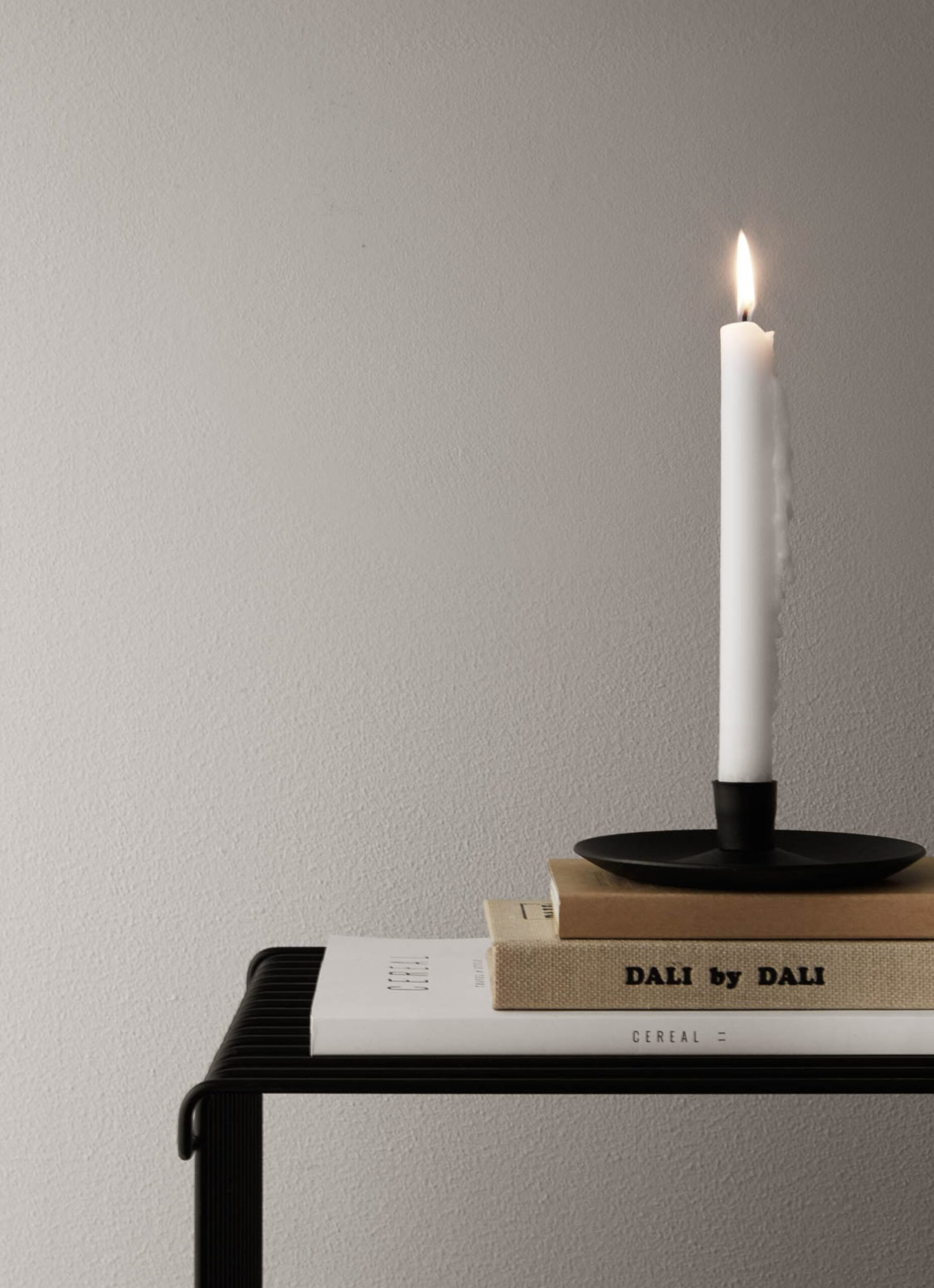 Vages - Handmade Cast Iron Candle Holder - Fat - black