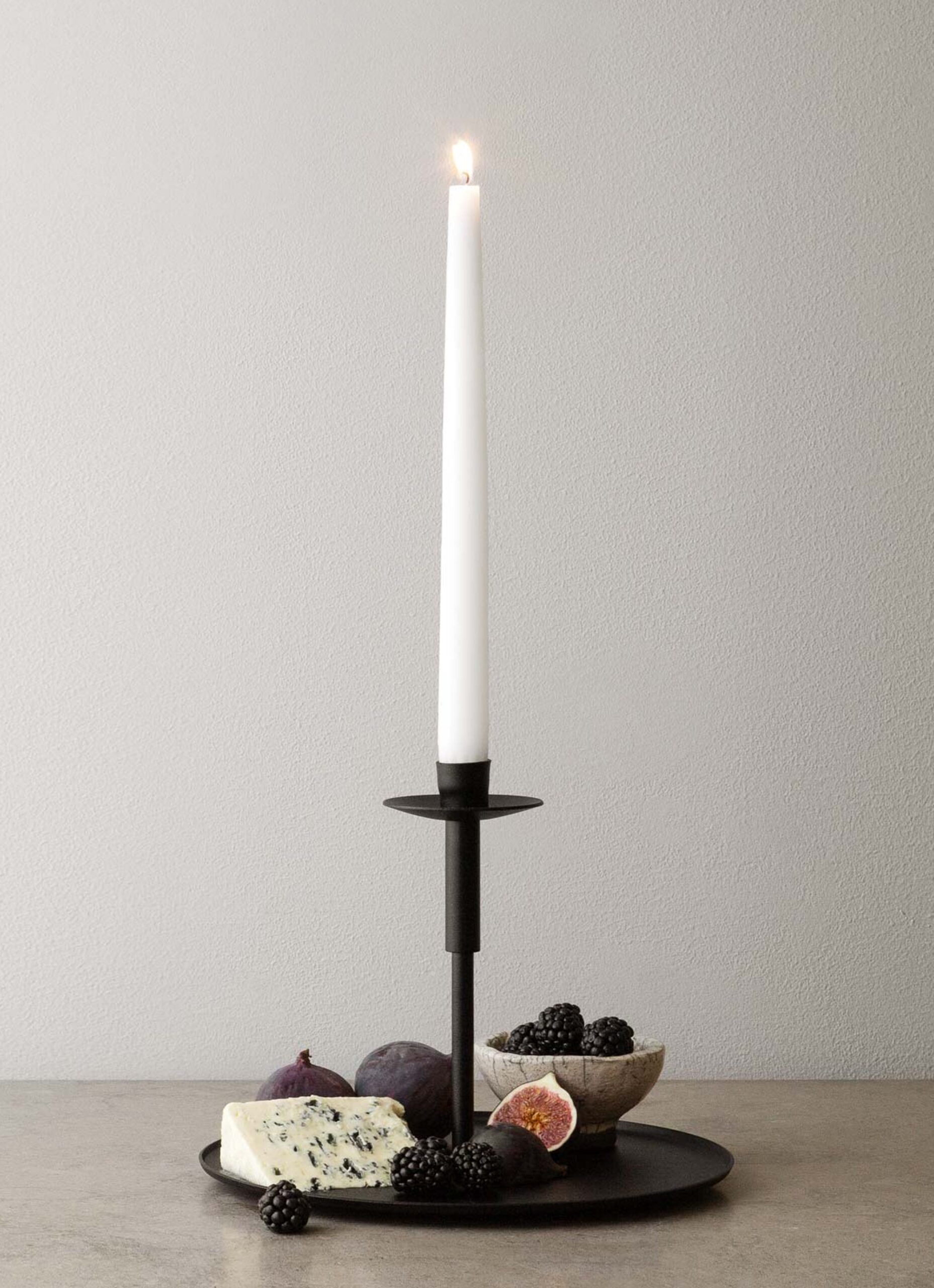 Vages - Handmade Cast Iron Candle Holder and Plate - Traedet